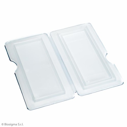 Plastic trays and slides mailer